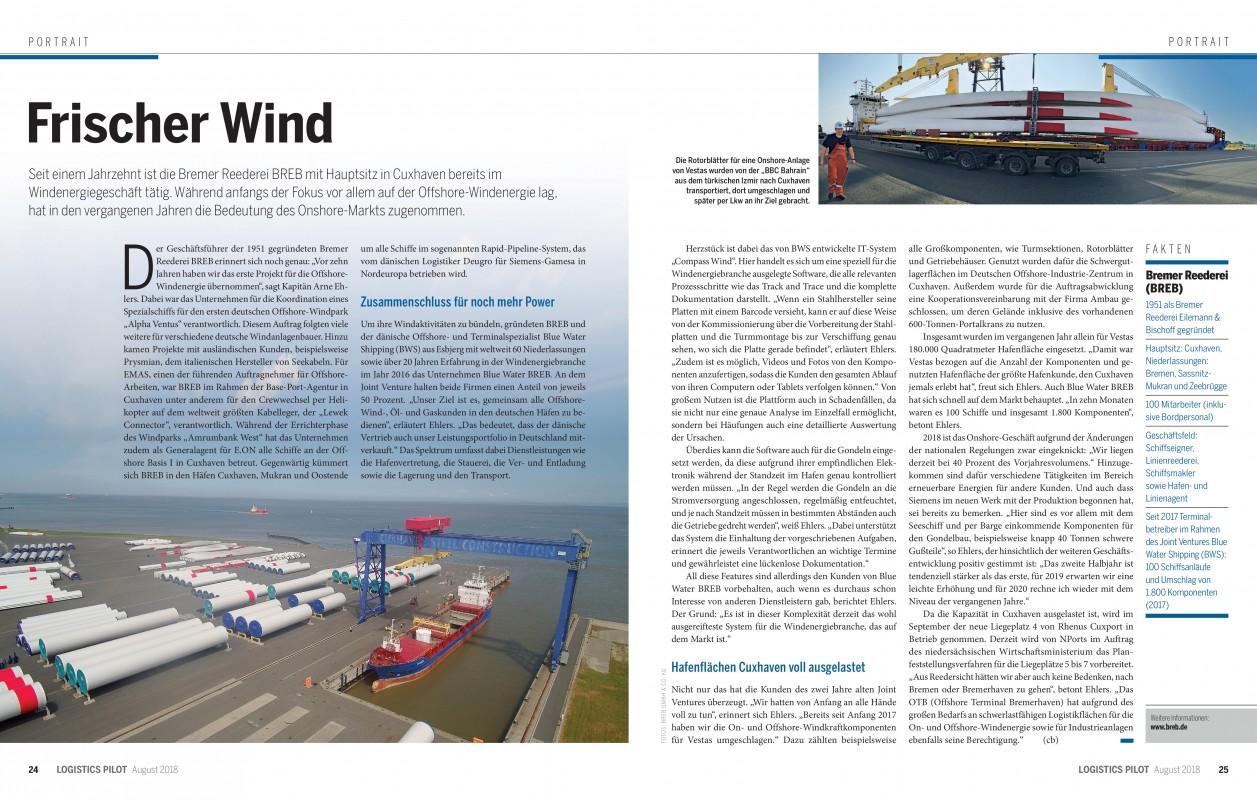 Frischer Wind - Logistics Pilot 08/2018